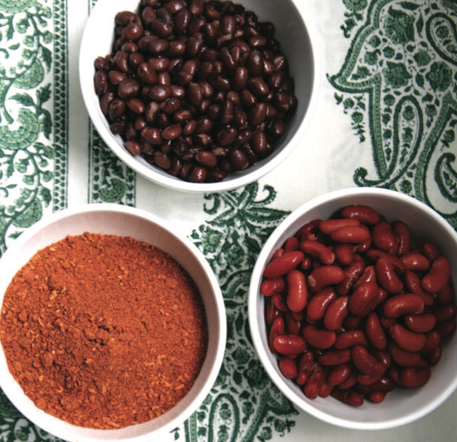 Prepping chili spices and beans for this autumn meal staple.